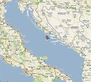 Vis is on the shore of Croatia on the Mediterranean sea.