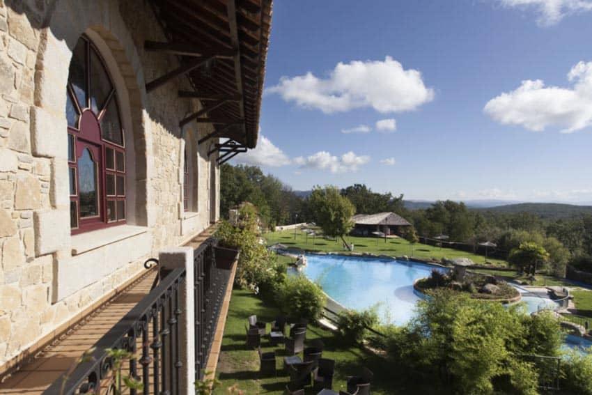 The outdoor pool at the Hotel Dona Teresa in La Alberca Spain.
