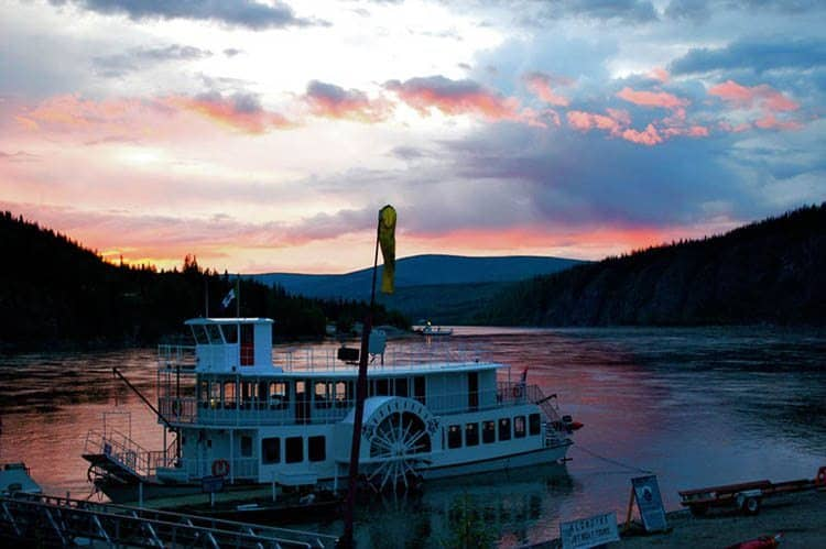 Dawson City sunset