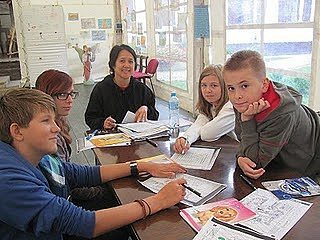 Students learn English in Poland.