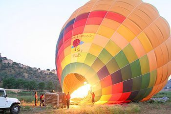 Sky Waltzing Over Jaipur, India, in a Hot-Air Balloon