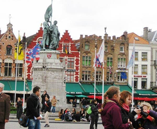 Market Square in Bruges, Belgium. Photo by Angela Doherty