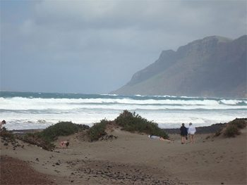 The beach in Lanzarote.