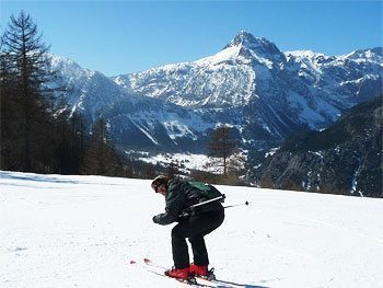 Racing position at Piemonte Alps.
