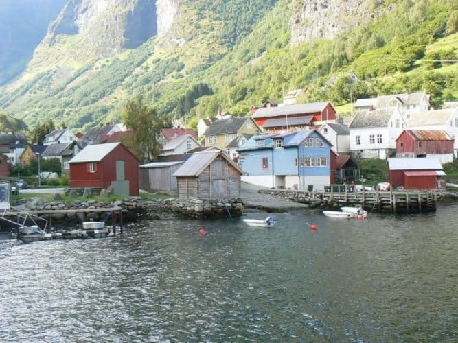 The fjords in Norway are dotted with tiny villages that rely on the ferries for everything. Max Hartshorne photo.