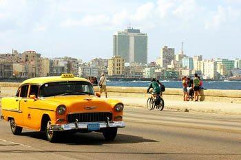 A cab in Cuba.