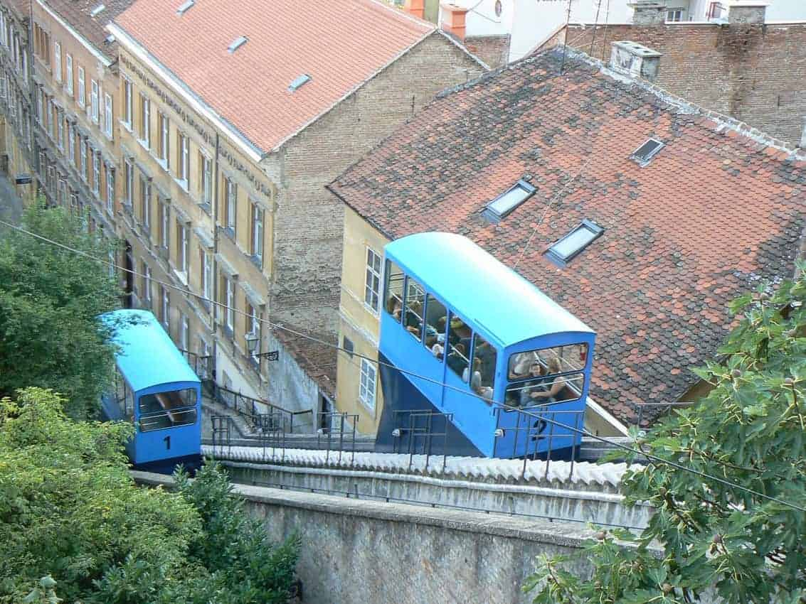 funicular in Zagreb
