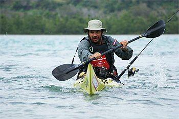 Riaan Manser kayaking in Madagascar.