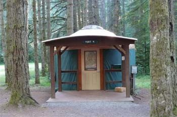 Yurts and Cabins in OR and WA State Parks