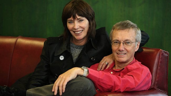 Maureen and Tony Wheeler, founders of Lonely Planet travel books.