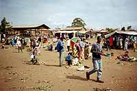 The market in a rural village in Tanzania.