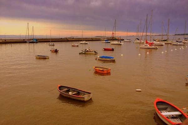 The harbor at Colonia del Sacramento, Uruguay.