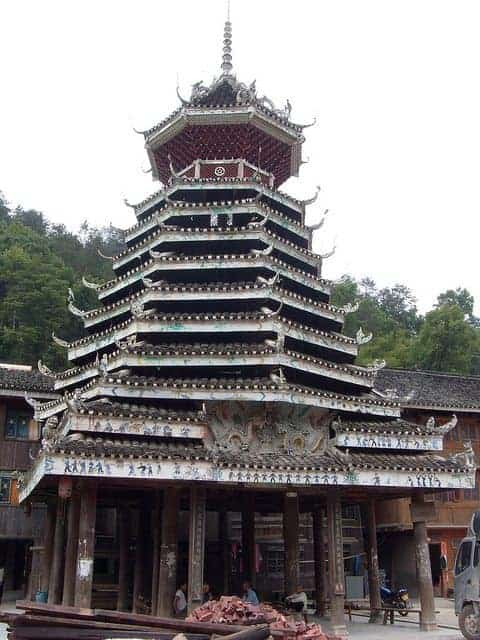 Sanjiang's drum tower. photo by Ken Marshall