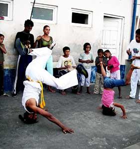 A capoeira show