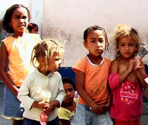 Children in Chã das Caldeiras