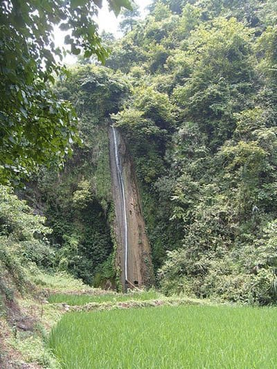 waterfall in Sandu, China.