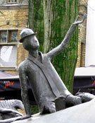 Sculpture in Bruges, Belgium.
