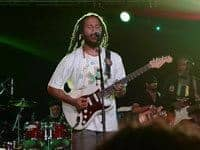 Ziggy Marley performing at the Wanderlust festival in Manchester Vermont.