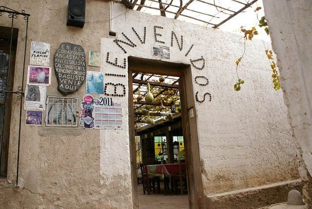 Entrance to a little comedor in Angastaco.