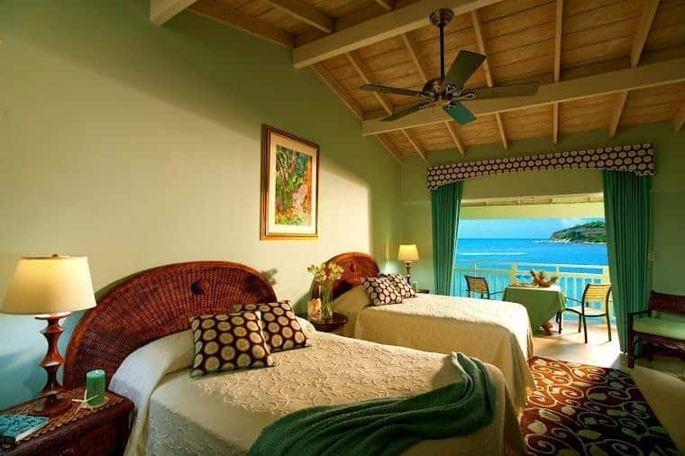 Waterview room at the Grand Pineapple Resort, Antigua.