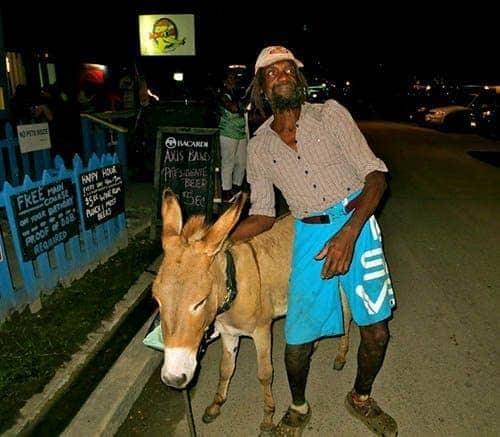 Jacko and his donkey.
