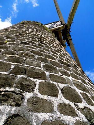 Windmill at Betty's Hope Sugar plantation.
