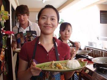 A tasty Thai lunch at Bangkok Cooking Academy. photos by Ronald Estrada.