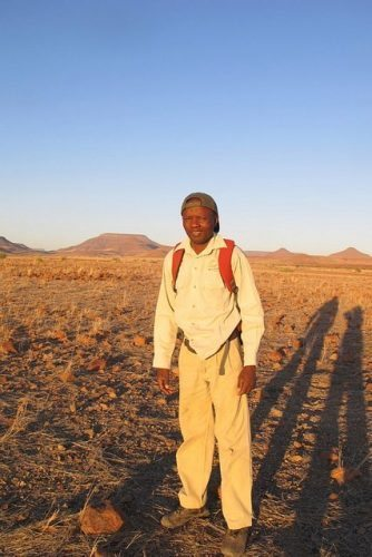 Raymond the rhino guide in Namibia.