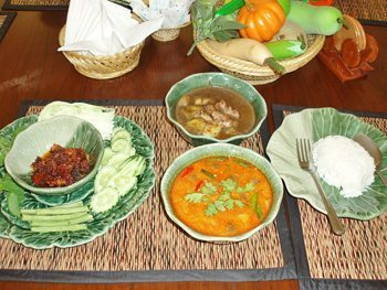 The spicy and delicious Thai dishes...ready to enjoy!
