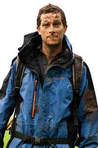 Bear Grylls in action.