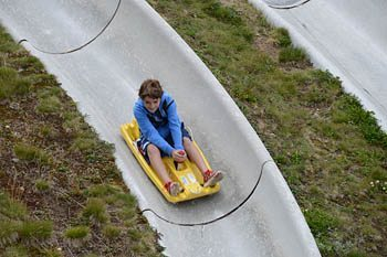 Alpine Sliding is a safer alternative to Downhill Mountain Biking