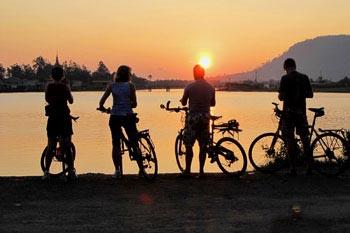 Biking in Cambodia