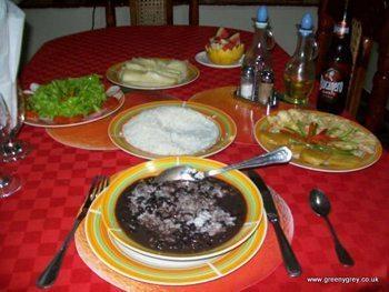 Casa Particular dinner in Vinales, Cuba.