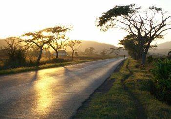 Twilight on the road to Havana.