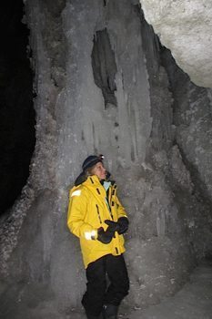 Author in Maligne Canyon, Jasper.