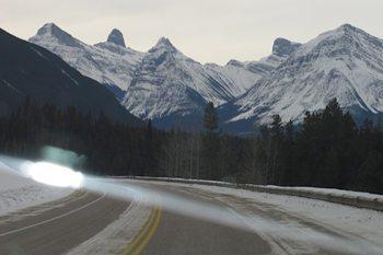 mountains in view n Jasper, Alberta Canada.