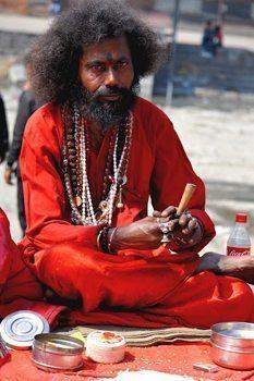 Shiva Baba prepares a Chilam for worshippers at Maha Shivaratri