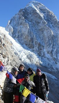 Team Mridula at the Base of Mt Everest.