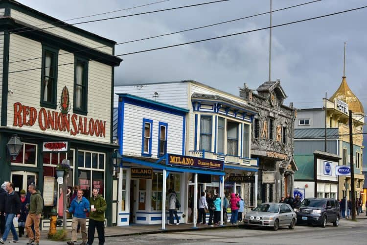 Downtown Skagway, Alaska. Encircleworldphotos.com photo.