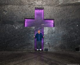 Inside the Cathedral of Salt, outside of Bogota. Paul Shoul photo.