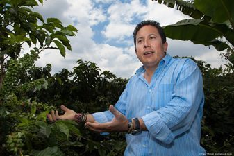 Manuel Sobogan, of Hacienda Combia in Colombia's Coffee Triangle.