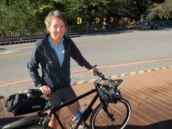 Margaret Koller, of Germany says she loves biking Taiwan.