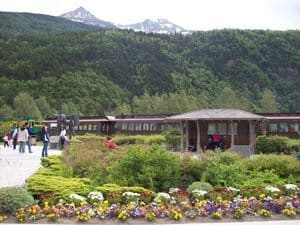 yukon white pass railway in Skagway, Alaska.