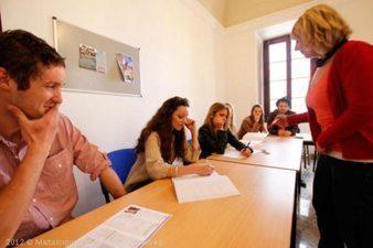 A classroom at Malta Lingua.