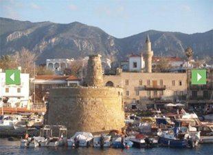 A former defense tower in Kyrenia Harbor, North Cyprus.