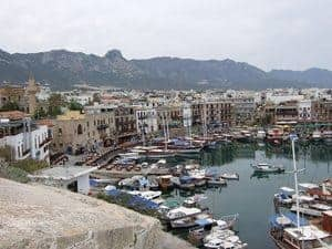 Kyrenia harbor in North Cyprus