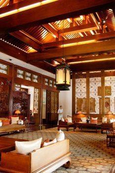 The Summer Palace hotel lobby.