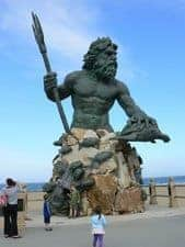 Statue of Neptune the god of the sea, in VA beach.