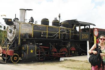 The steam train that travels from Trinidad de Cuba to a sugar plantation. photos by Dorothy Conlon.