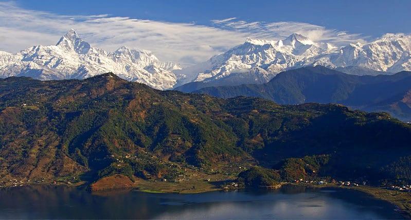 Anapurna From Pokhara, Nepal. Maha Shivaratri in Kathmandu